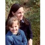 gaelle 5 ans et sa maman 1982