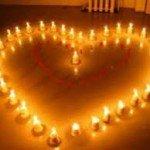 coeur bougies